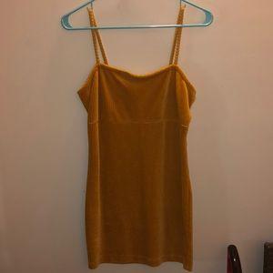 Clueless inspired mustard yellow 90's dress